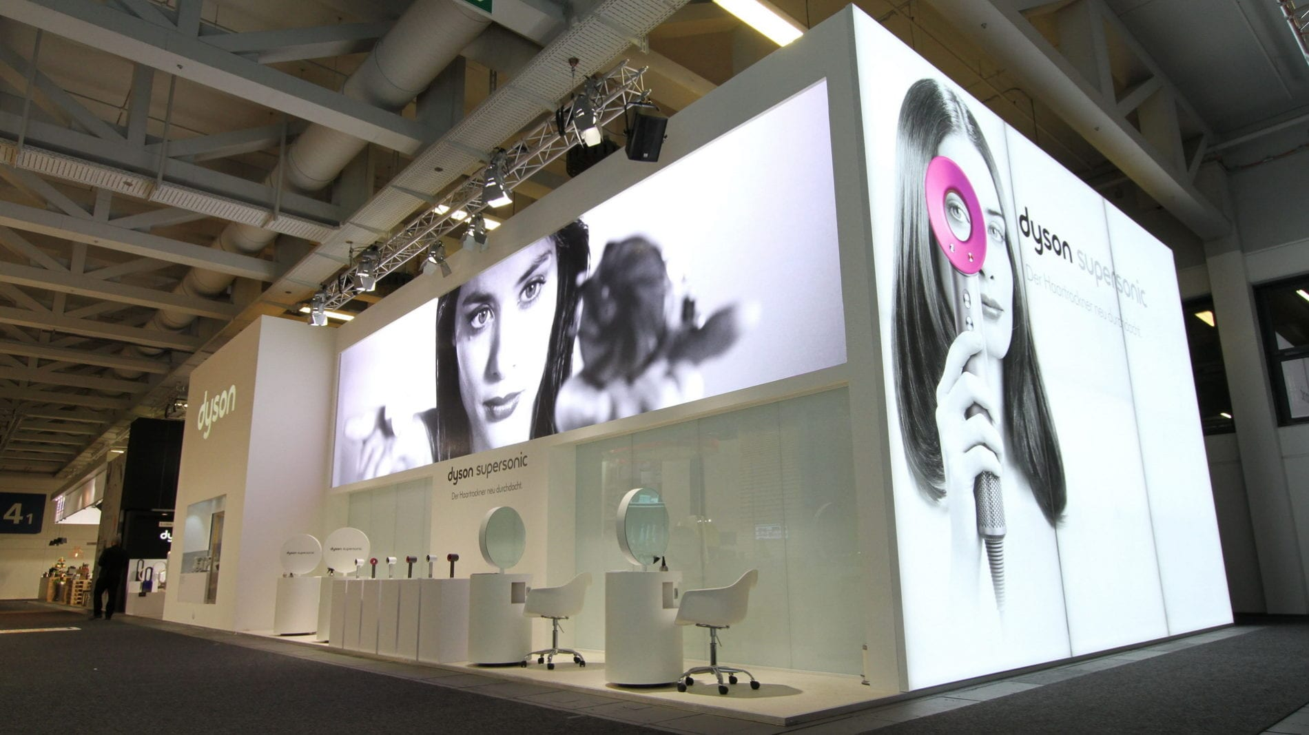 Dyson Hair Dryer Exhibition - LED Screen Hire
